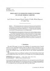 Modularité des séries génératrices de diviseurs sur les variétés de Shimura unitaires