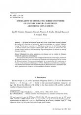 Modularité des séries génératrices de diviseurs sur les variétés de Shimura  unitaires II: applications arithmétiques