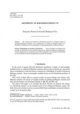 Arithmétique des produits de Borcherds