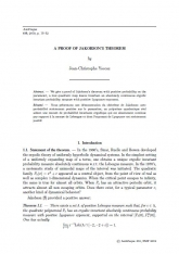A proof of Jakobson's theorem