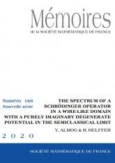 Le spectre d'un opérateur de Schrödinger à potentiel purement imaginaire et dégénéré dans un domaine filaire