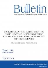 Approximation diophantienne métrique $p$-adique multiplicative sur des variétés et dichotomie des exposants