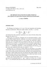 Exposé Bourbaki 1161 : La fonction zêta de Riemann dans les petits intervalles (d'après Najnudel, et Arguin, Belius, Bourgade, Radziwiłł, et Soundararajan)