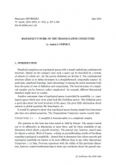 Exposé Bourbaki 1163 : Travaux de Manolescu sur la conjecture de triangulation