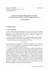 Exposé Bourbaki 1151 : Réseaux euclidiens, séries thêta et pentes (d'après W. Banaszczyk, O. Regev, D. Dadush, N. Stephens-Davidowitz, ...)