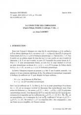 Exposé Bourbaki 1155 : La conjecture des compagnons d'après Deligne, Drinfeld, L., Lafforgue, T., Abe, ...