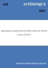 $ \mathcal{D}$-modules sur les espaces analytiques rigides
