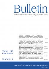 Bulletin de la SMF 149-1