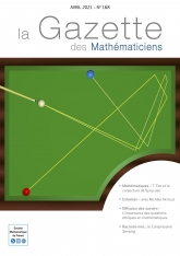 La Gazette des mathématiciens 168 (avril 2021)