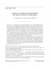 Espaces d'arbres algébriques mesurés et triangulations du cercle