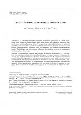 Amortissement Landau pour des gaz de Lorentz inélastiques