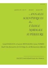 Annales scientifiques de l'ENS Tome 54 Fascicule 3